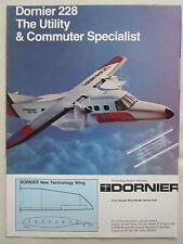 9/1980 PUB DORNIER 228 COMMUTER AIRCRAFT AVION PARIS AIRSHOW ORIGINAL AD