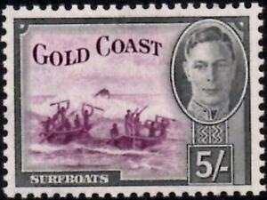Gold Coast 1948 KGVI  5/- Purple & Black  SG.145 Mint (Hinged)     Cat:£45