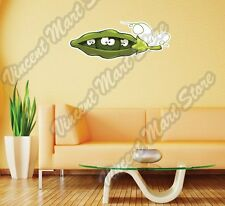 "Pea Pod Looks Out Funny Cartoon Gift Wall Sticker Room Interior Decor 25""X10"""