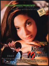 KISSING MIRANDA__Original 1995 Trade Print AD / movie promo_poster__ALEX MENESES