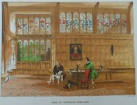 Antique lithograph print - Hall at Ockwells Berkshire  - Leighton Bros