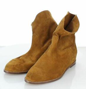 44-44 NEW $375 Women's Sz 9 M Vince Sinclair Suede Pull-On Short Flat Boots