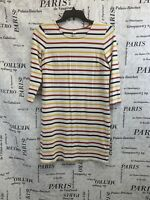 Old Navy Womens Dress White Red Blue Yellow 3/4 Sleeves Size M