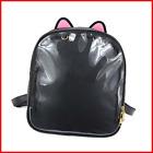 SteamedBun Cat Ita Bag Ears Candy Leather Ita Backpack Girls Transparent Window