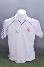 Real MADRID CALCIO Camicia 1986/88 adulto L HOME HUMMEL