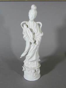 HOMCO Porcelain Goddess Figurine # 1426 Guan Yin Mother of Mercy Blanc de Chine