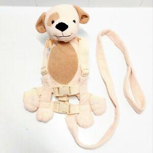 Toddler Child Safety Harness Leash Plush Puppy Dog Back Pack Gold Bug