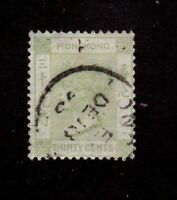 Hong Kong stamp #47, used, Queen Victoria, 1891, SCV $26.00