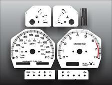 Fits 1989-1994 Nissan 240SX Dash Instrument Cluster White Face Gauges