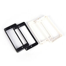 2pcs Humbucker Bridge Pickup Mounting Ring Frame Surround for Guitar white new.