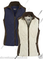 Size 8 10 12 14 16 Womens GILET BODYWARMER Lady JACKET QUILTED Waistcoat Navy