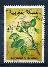 MAROC - 1991 timbre 1103, Fleurs, Pyrus, oblitéré