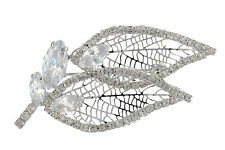 Janeo Swarovski Crystals Elements Leaf Brooch Pin Christmas Anniversary Gift Her