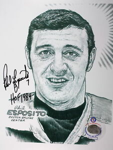 (#51) Phil Esposito signed Head Sketch Picture 8x10