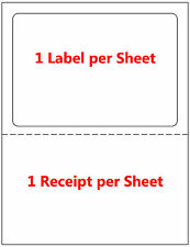 250 Labels Adhesive Tear off Paper Receipt. Best for Ebay / Paypal Label UPS