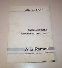 Kundendienst Info - Alfa Romeo Alfetta 2000 L Automatikgetriebe - Stand 1981!