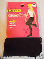 Diamond Black Tights Kushyfoot Massages Your Feet With Every Step Size Medium