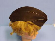 b1307-s  WW 2 US Army Women's Army Corps WAC OD Officer Overseas cap size 55 w7d