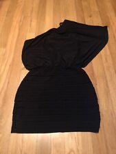 B. Darlin Junior Women's Black Fitted Off Shoulder Dress Size 5-6 Batwing
