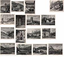 Stampe antiche LOTTO di 16 VEDUTE VALTELLINA SONDRIO e ALTRE 1934 Old print