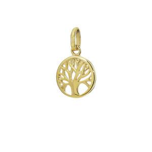 Baum Des Lebens Ø 10mm Kettenanhänger 333 8 Karat Gelbgold Damen Lebensbaum 9223