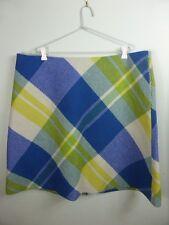 BODEN stunning blue  green yellow 75% WOOL aline chic skirt sz 22