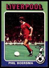 Topps Foootball 1975 Red/Grey (B1) Phil Boersma Liverpool No. 161