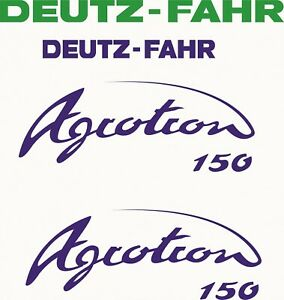DEUTZ-FAHR Agrotron 150 - Tractor - Decals - Sticker set