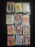 1986 Topps Garbage Pail Kids Complete 12 Button Set FASC