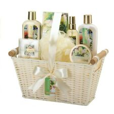 MINTED JASMINE WHITE BASKET BATH SPA GIFT SET-10016918