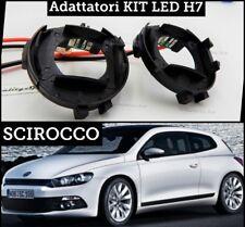 X2 ADATTATORI porta lampade BLOCCAGGIO LED H7 Volkswagen SCIROCCO Fari led R lin