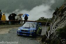 "Petter Solberg WORLD RALLY CHAMPION 03 SUBARU IMPREZA HAND SIGNED PHOTO 12x8 ""BW"