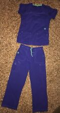 Women's CARHARTT Scrub Top & Pants- Purple Size Medium