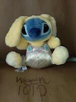Disney Store Lilo Stitch Plush Bunny Stuffed Animal Blue Alien Toy Easter Doll