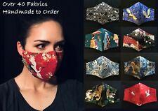 Handmade Premium 100% Cotton Face Mask Multi Layer w/ Nose Bridge, Japanese Art