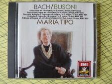BACH / BUSONI MARIA TIPO CHACONNE TOCCATA FUGUE etc .. CDC 7490662 EMI DIGITAL