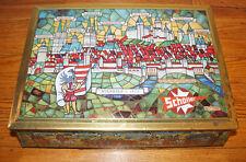 Vintage SCHOLLER Metal TIN West Germany Nuremberg 1570 W. Western Art Litho Old