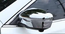 Chrome Door Mirror Cover Rear View Mirrors Trim for Nissan Rogue X-trail 2014-17