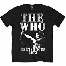 The Who British Tour 1973 Black Mens T Shirt Large