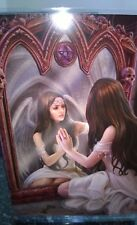 Anne Stokes Greetings Card with Envelope -  Magical Mirror Angel Reflection