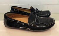 POLO Ralph Lauren Men's Genuine Leather Black Wyndings Suede Driver Size 9M