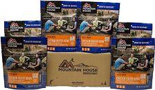 6 - Mountain House Freeze Dried Food Pouches - Chicken Fajita Bowl - New Item