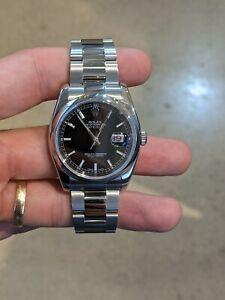 Rolex Datejust 36mm 116200 Stainless Steel Black Index Dial Bracelet Watch