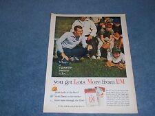 "1962 L&M Cigarettes Vintage Color Ad ""...You Get Lots More from L&M"""