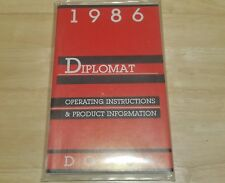1986 Dodge DIPLOMAT  Owners Manual new old stock