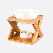 Pajoma Duftlampe-keramik-bambus-holz-mit Duftdrop-top