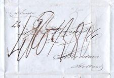 1850-1dz LOOPUYT gin TRANSATLANTIC New York to Schiedam Holland stampless letter