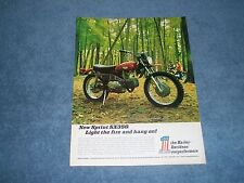 "1971 Harley-Davidson Sprint SX350 Trail Bike Vintag Ad ""Light the Fire & Hang On"