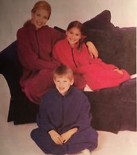 NEW VINTAGE  'MCCALL'S' PATTERN 9580 ALL SIZE COUCH COZY ( ONESY )