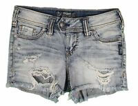 New Silver Womens Jeans Denim Shorts Trinity 24 25 26 27 28 29 30 31 32 33